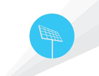 Symbol of single solar panel