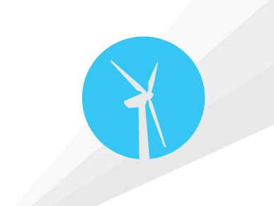 Symbol of wind turbine