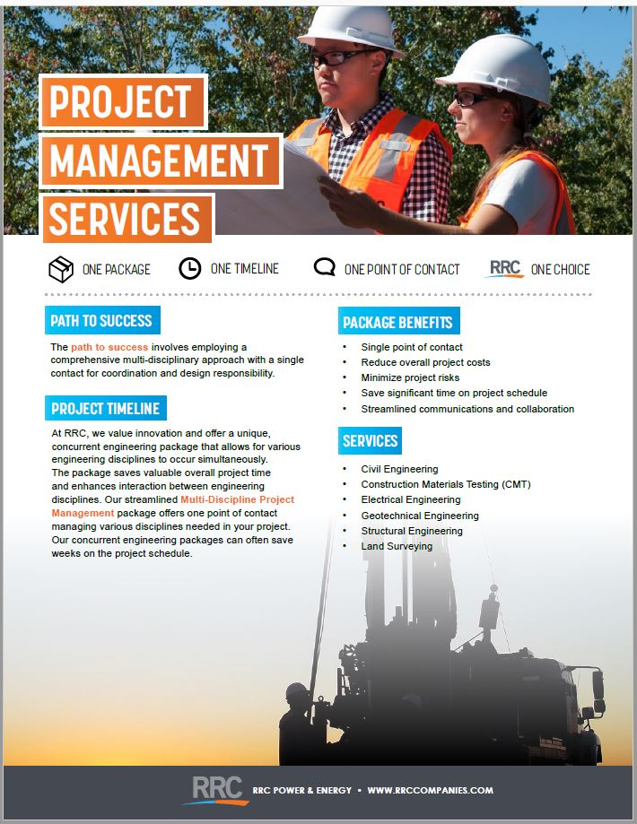 RRC Project Management brochure cover