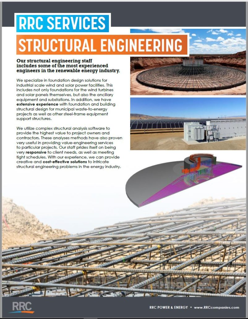 RRC Structural Engineering Brochure Cover