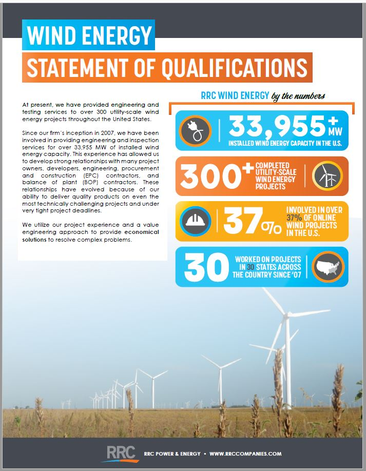 RRC Wind Energy Brochure Cover