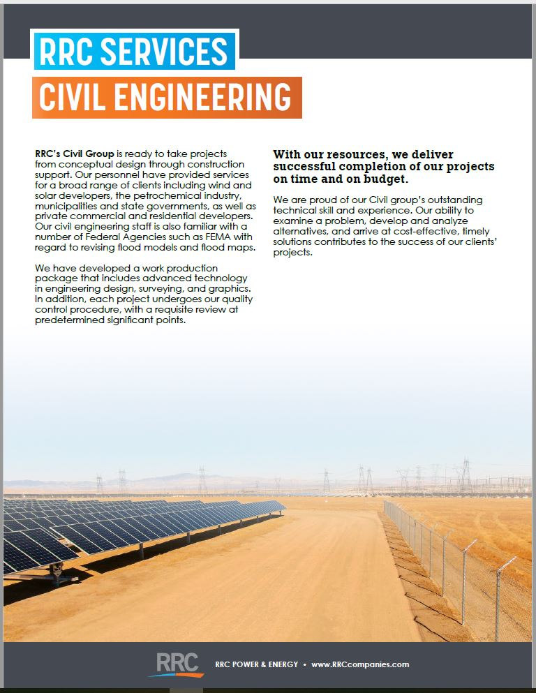RRC Civil Brochure Cover