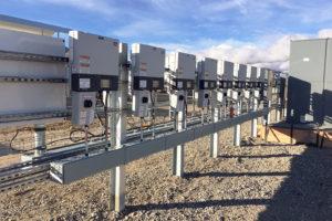 SCADA Solar Panel Row