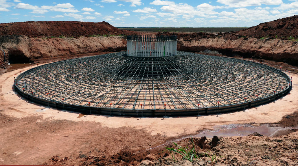 Foundation rebar cage for wind turbine