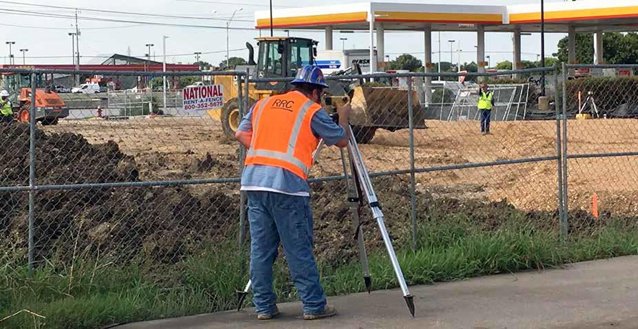 land surveyor on urban local site